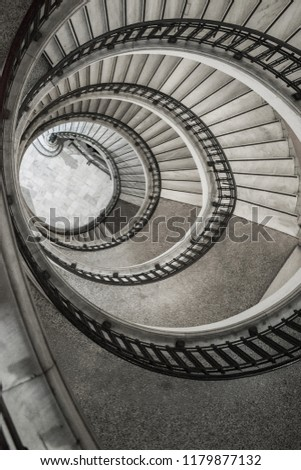 Round Staircase View Above Stock Photo Edit Now 1179877132