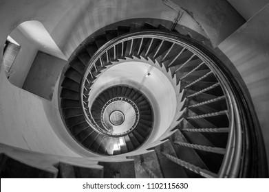 round stairs wallpaper