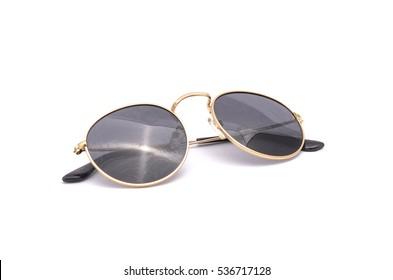 round sunglasses  isolated on white