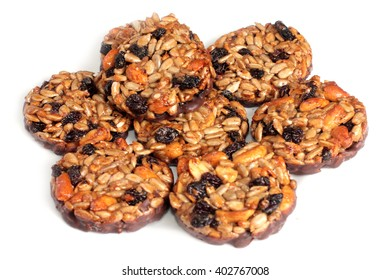 round sweet biscuits with jam and seeds
