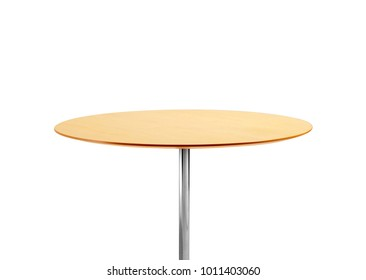 Round table isolated on white background