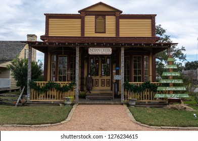 Round Top, Texas, United States of America - December 27, 2016. Indian Creek artisan gifts and home decor shop in Round Top, TX.