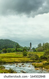 Round Tower, Glendalough, County Wicklow, Ireland