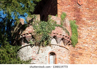 Round tower of Renaissance castle, horizontal image