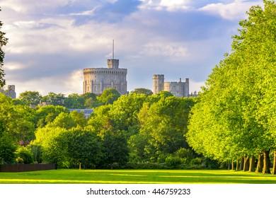 The Round Tower at Windsor Castle. Windsor, Berkshire, England, UK