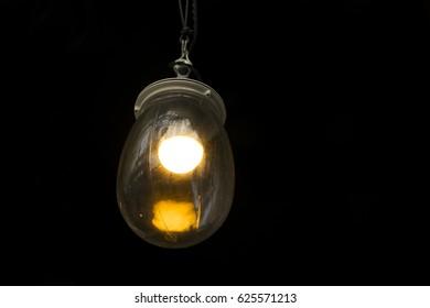 Round tungsten glass lamp