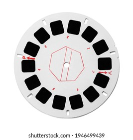 Round View Master Photo Film Reel Cut Out.