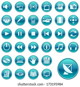 Round web icons. Raster version of EPS image 27976241