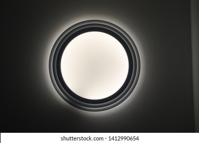 Round white light made out of plastic