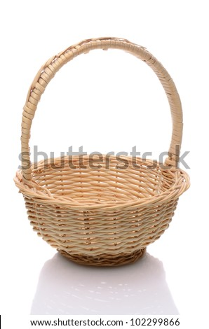 Round Wicker Basket Handle Isolated On Stock Photo Edit Now