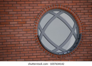 round window red brick