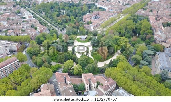 Roundabout Jardin Des Plantes Toulouse Big Stock Photo (Edit ...