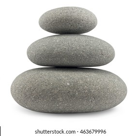 Rounded pebbles balancing in a uniform stack great concept for the perfect life balance