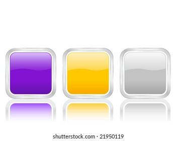 Rounded squares icons isolated on white background.