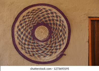 Rounded Wicker Handmade. Bedouin lifestyle in Saudi Arabia