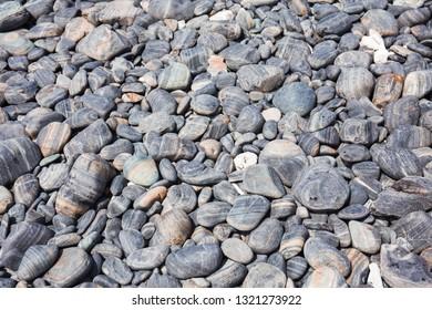Round-gray rock pattern on the beach at Lipe island,Krabi,Thailand