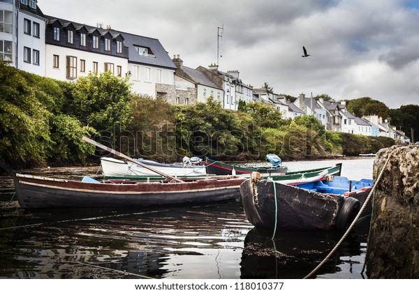 Roundstone Harbor in Ireland