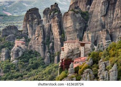 Rousanou and Agios Nikolaus monasteries, Meteora, Greece