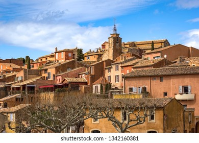 Roussillon is a commune in the Vaucluse department in the Provence. It is noted for its large ochre deposits found in the clay surrounding the village.