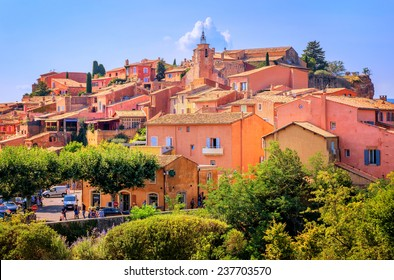 Roussillon, France, one of the most beautiful villages of France (Les Plus Beaux Villages de France) nomination