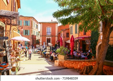 Roussillon, Provence, France, september  10 2017: village of roussillon in Provence, France, Europe