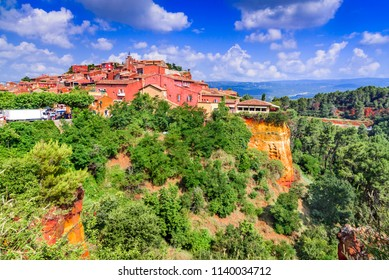 Roussillon, Vaucluse. The red hilltop village of Provence, France most beautiful places.