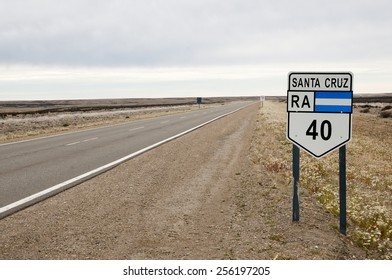 Route 40 Sign - Patagonia - Argentina