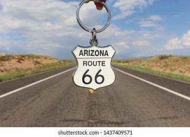 Route 66 Arizona key chain