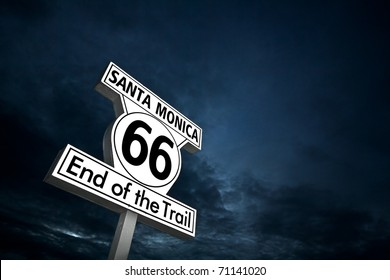"""Route 66"" end of the line - Santa Monica"