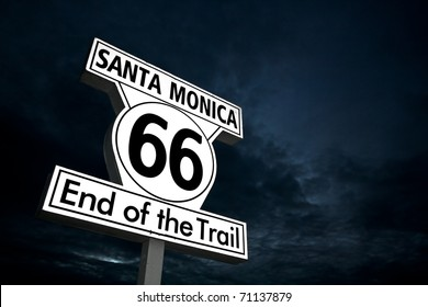 """Route 66"" End of the trail - Santa monica"