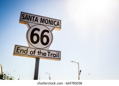 Route 66 end of trail sign