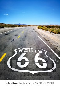Route 66 road markings California