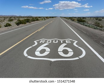 Route 66 road sign in Mojave Desert, California - Shutterstock ID 1514271548