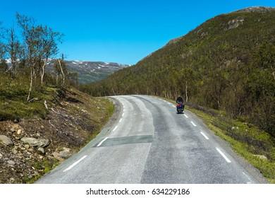 Route 862 between Tromso and Sommaroy in Troms, Northern Norway