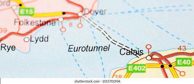 Route map Calais, France