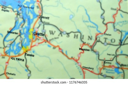 Map Of Seattle Stock Photos Images Photography Shutterstock