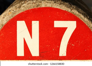 Route nationale 7 sign in France