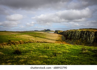 The route to Sycamore Gap, Northumberland, England