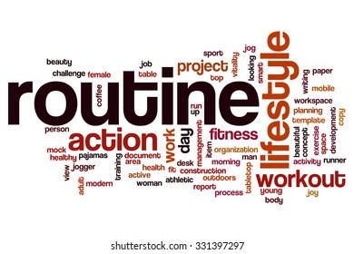 Routine word cloud