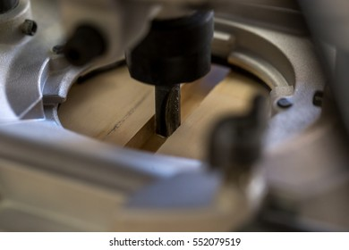 Routing a channel in wood