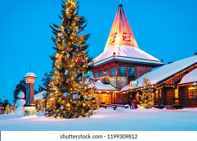 Rovaniemi, Finland - March 5, 2017: Santa Claus Office at Santa Claus Village in Rovaniemi in Lapland in Finland.