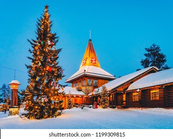 Rovaniemi, Finland - March 5, 2017: Santa Claus Office in Santa Claus Village in Rovaniemi in Lapland in Finland.