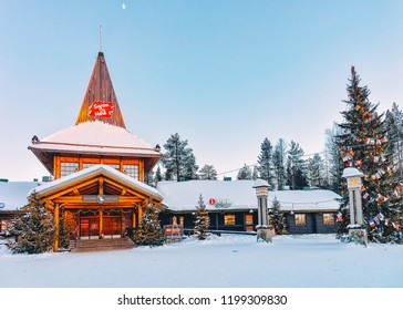 Rovaniemi, Finland - March 5, 2017: Santa Claus Office in Santa Claus Village in Rovaniemi in Lapland in Finland.
