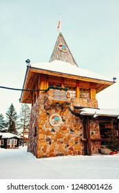 Rovaniemi, Finland - March 5, 2017: Santa Claus Main Post Office at Santa Claus Village. Lapland, Finland, on Arctic Circle in winter.