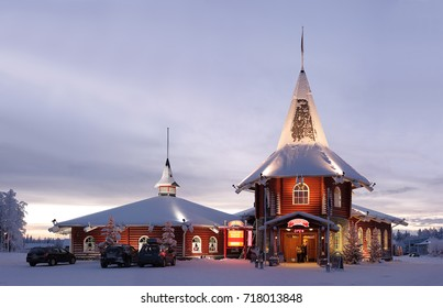 ROVANIEMI/FINLAND - JANUARY 4: Christmas house in official Santa Claus village on January 4, 2011 in Rovaniemi, Finland.