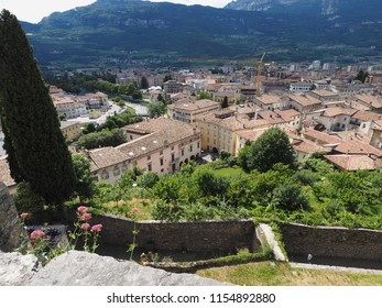 Rovereto, Italy. Panorama, the town of Rovereto seen from the walls of the ancient castle.