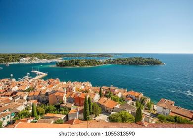 Rovinj, Istria, Croatia. Aerial shot.
