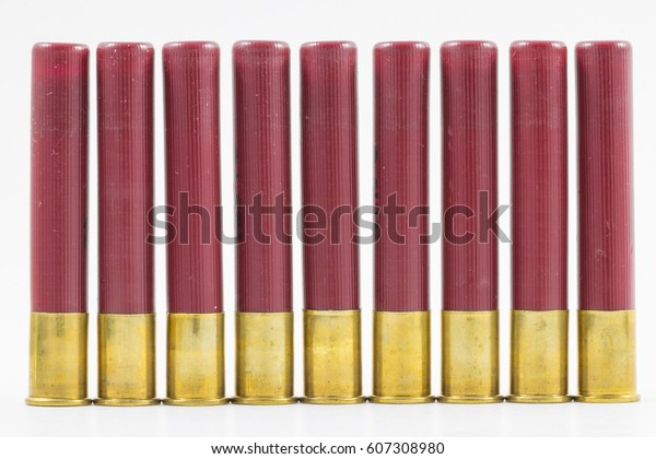 Row 410 Shotgun Shells Stock Photo (Edit Now) 607308980