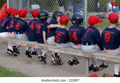 A row of baseball players.