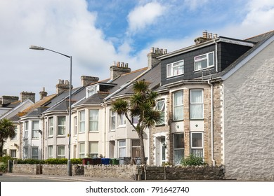 Row of beautiful terraced english houses